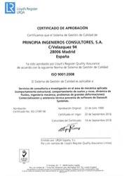 Principia cuenta con el certificado de calidad ISO 9001