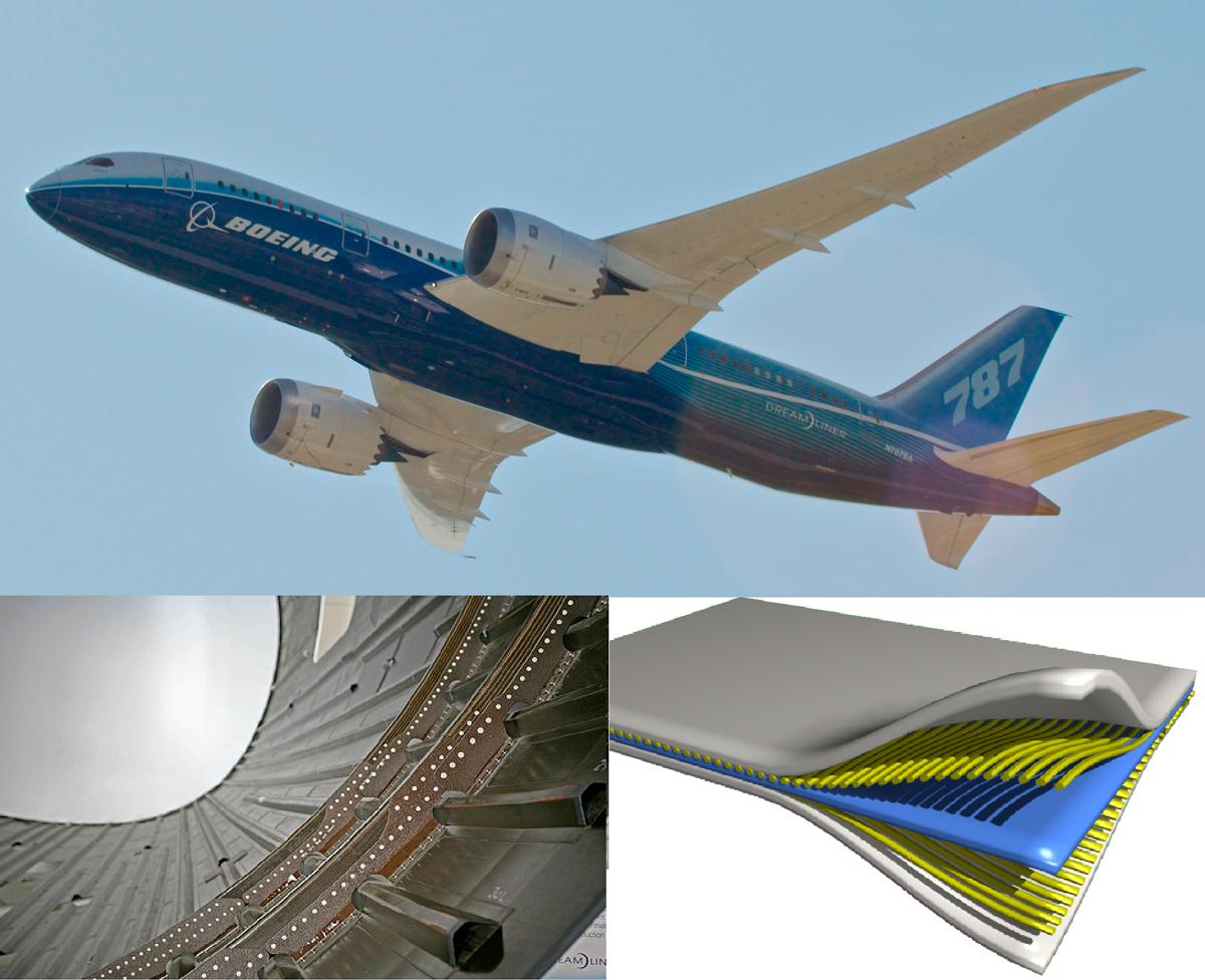 ejemplos uso materiales compuestos aeronáutica
