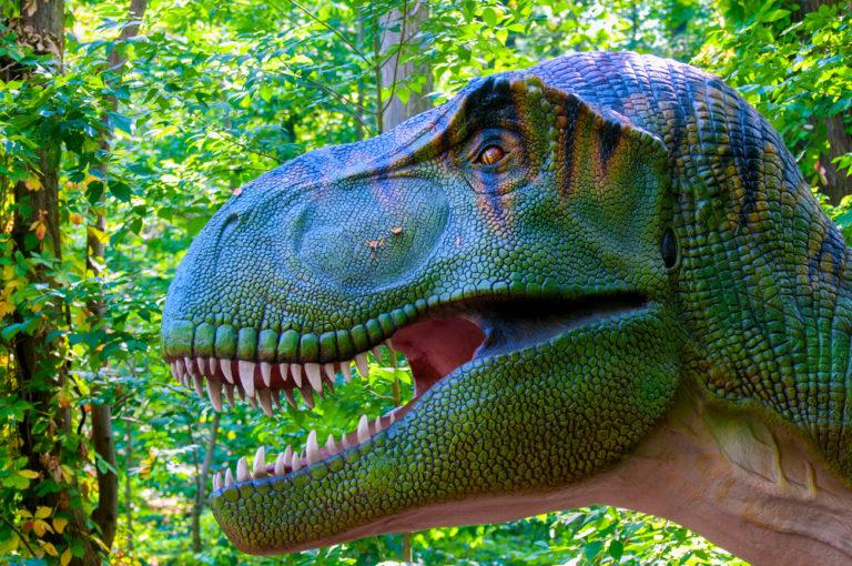 Dinosaurio animatrónico