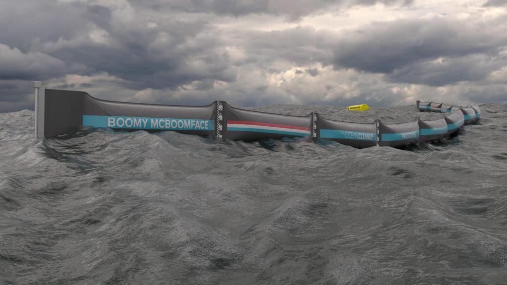 Simulación del prototipo Ocean CleanUp